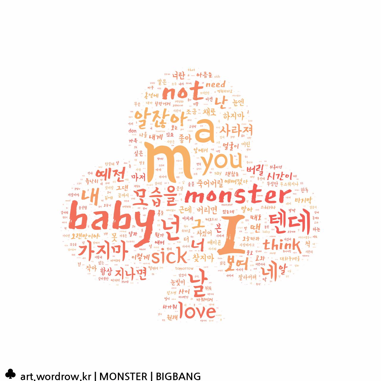 워드 아트: MONSTER [BIGBANG]-80